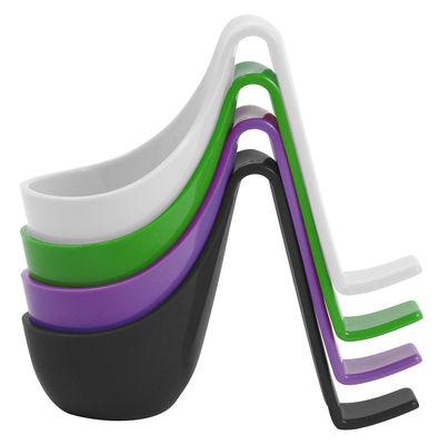 Coquetier Eiko lot de 4 - Authentics blanc,noir,vert,violet en matière plastique
