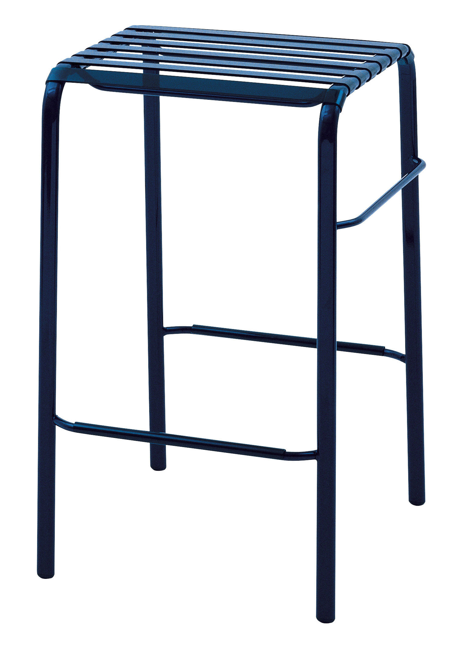 Tabouret De Bar Striped H 68 Cm Assise Plastique Bleu
