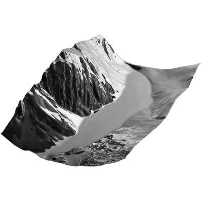Arts de la table - Plats - Centre de table Liconi / 35 x 23 cm - Alessi - Acier inoxydable brillant - Acier