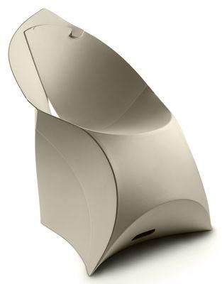 Arredamento - Sedie  - Poltrona pieghevole Flux Chair di Flux - Grigio galet - Polipropilene