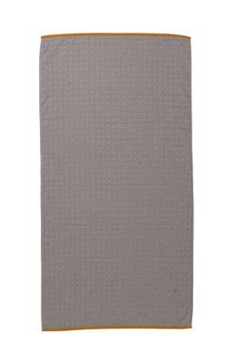 Drap de bain Sento / Organic - 140 x 70 cm - Ferm Living orange,gris en tissu