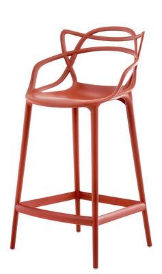 Chaise de bar Masters / H 65 cm - Polypropylène - Kartell orange rouille en matière plastique