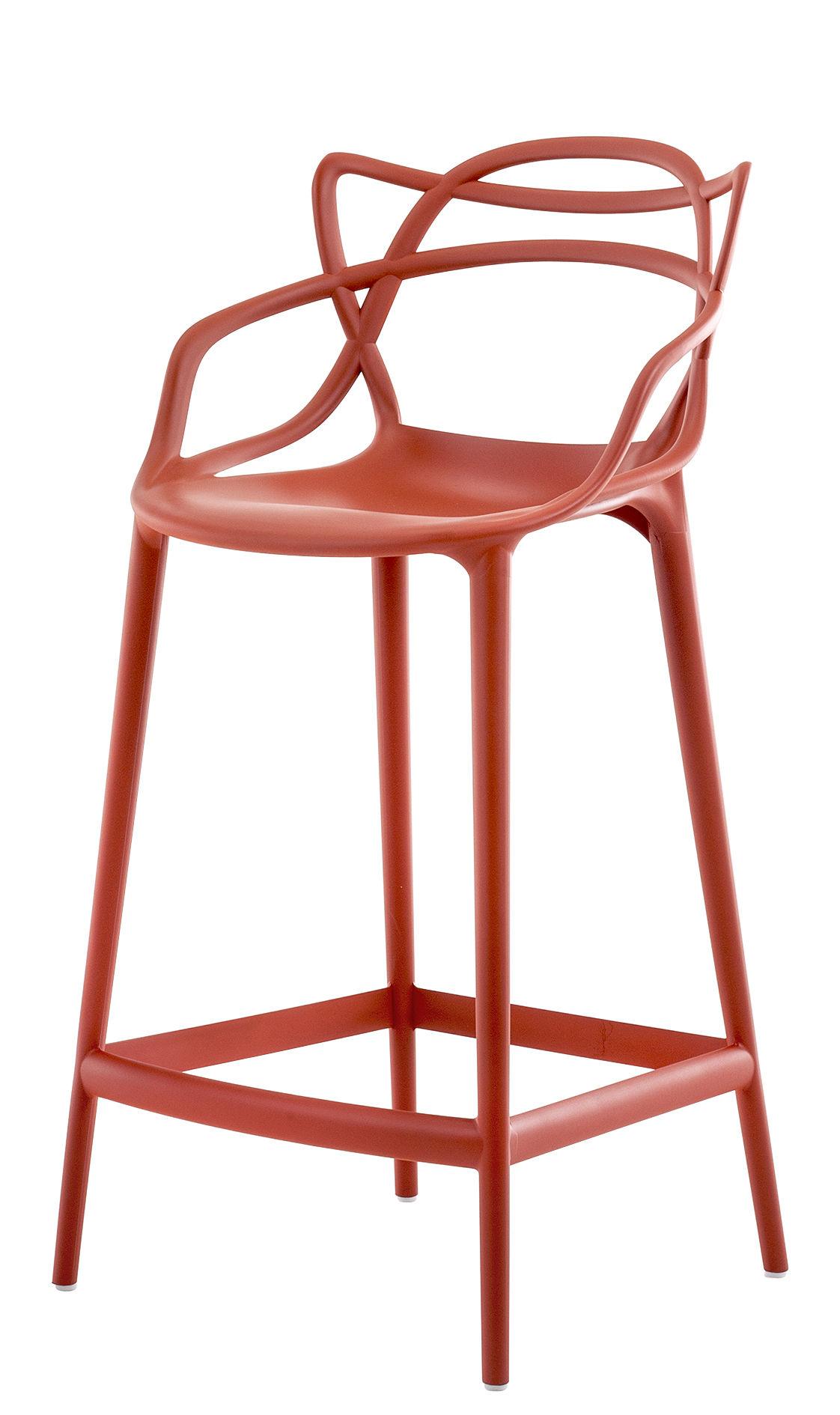chaise de bar masters h 65 cm polypropyl ne orange. Black Bedroom Furniture Sets. Home Design Ideas