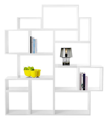 Furniture - Bookcases & Bookshelves - Stacked Shelf - 14 units - L 174 x H 196 cm by Muuto - White - MDF
