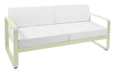 Canapé droit Bellevie 2 places L 160 cm Tissu blanc Fermob blanc,tilleul en métal