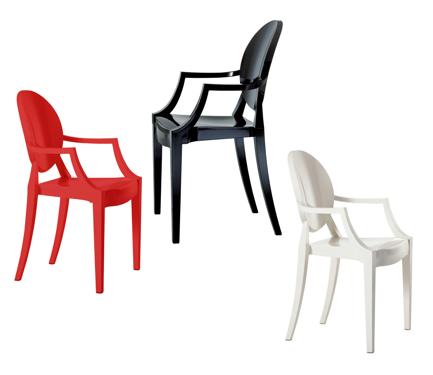 fauteuil enfant lou lou ghost rouge opaque kartell. Black Bedroom Furniture Sets. Home Design Ideas