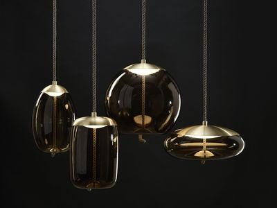 Leuchten Pendelleuchten Knot Sfera Pendelleuchte Glas Kordel Ø 50 Cm