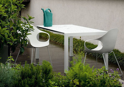 sushi outdoor extending table l 177 to 290 cm grey by kristalia. Black Bedroom Furniture Sets. Home Design Ideas