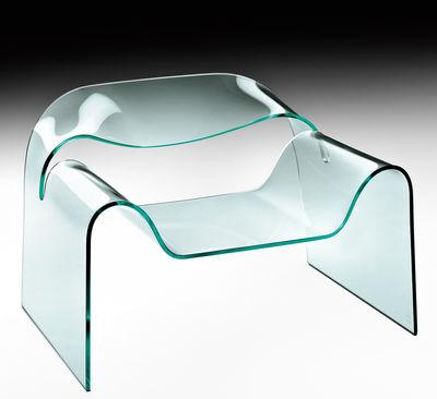 Poltrona bassa Ghost di FIAM - Trasparente - Vetro