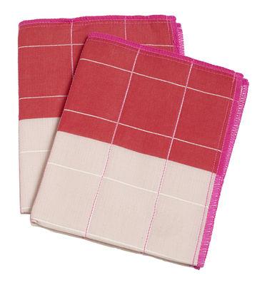 Cuisine - Vaisselle et nettoyage - Chiffon Colour Cloth / Jetable - Set de 2 - 27 x 35 cm - Hay - Rose - Coton