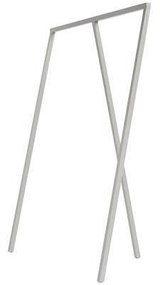 Foto Appendiabiti Loop / L 130 cm - Hay - Grigio chiaro - Metallo Supporto