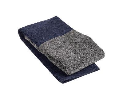 Serviette de toilette Compose / 100 x 50 cm - Hay gris,bleu marine en tissu
