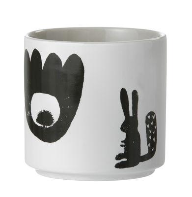 Arts de la table - Tasses et mugs - Tasse Landscape - Ferm Living - Blanc & Noir / Intérieur gris clair - Porcelaine