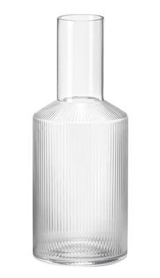 Carafe Ripple 0,9 L Verre soufflé bouche Ferm Living transparent en verre