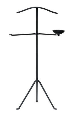 Mobilier - Compléments d'ameublement - Valet Officina / Fer forgé - Vide-poche intégré - Magis - Noir - Fer forgé verni, Silicone