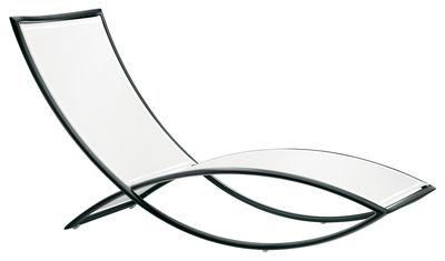 Chaise longue Fish - EGO Paris blanc,noir en métal