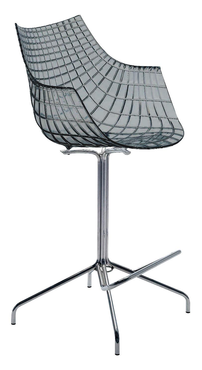 chaise de bar meridiana h 65 cm polycarbonate fum gris driade. Black Bedroom Furniture Sets. Home Design Ideas