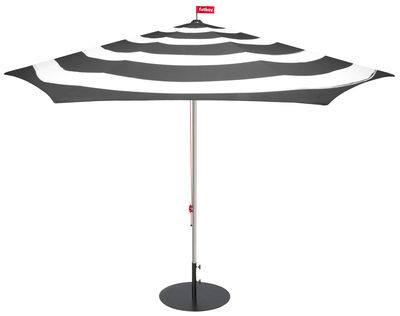 Jardin - Parasols - Parasol Stripesol / Ø 350 cm - Fatboy - Gris anthracite - Aluminium, Polyester