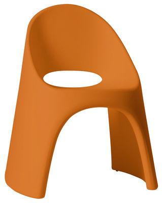 Poltrona impilabile Amélie di Slide - Arancione - Materiale plastico