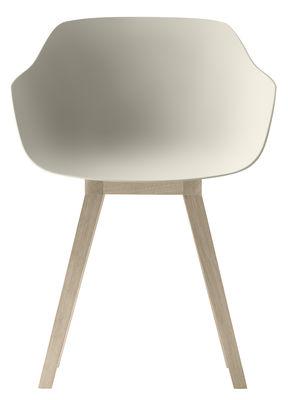 Kuskoa Bi Sessel / Bio-Kunststoff & Stuhlbeine aus Holz - Alki