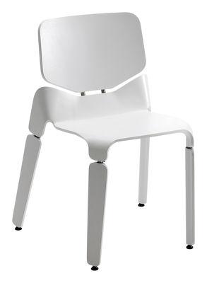 Mobilier - Chaises, fauteuils de salle à manger - Chaise Robo / Bois - Offecct - Blanc - Acier, Frêne teinté