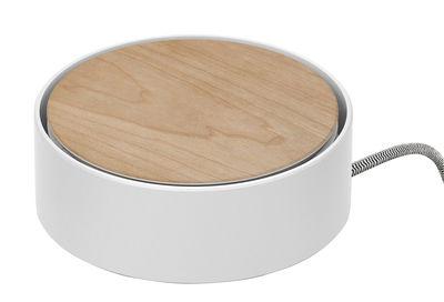 Station de charge Eclipse 3 ports USB Native Union blanc,bois naturel en métal