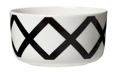 Bol Spaljé / Ø 12,5 cm - Marimekko blanc,noir en céramique