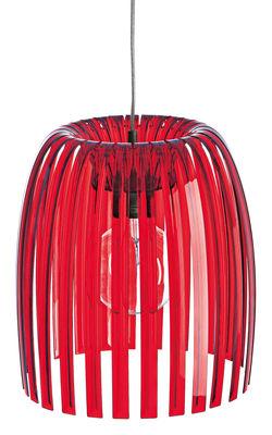 Luminaire - Suspensions - Suspension Josephine Medium / Ø 31 x H 34 cm - Koziol - Rouge transparent - Polystirol