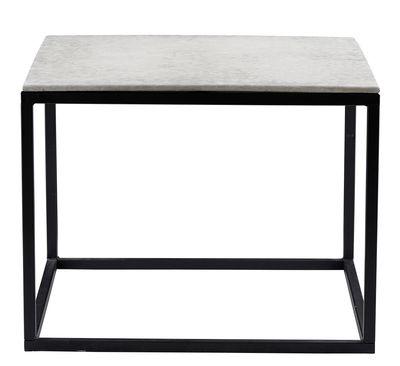 Tavolino - piano d'appoggio in cemento / 60 x 60 cm di House Doctor - Nero,Cemento grigio - Metallo