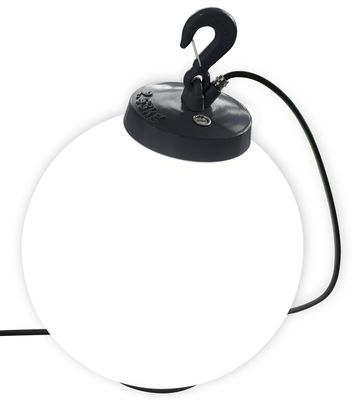 Lampe Grumo N°3 / A poser ou suspendre - H 58 x Ø 40 cm - Roger Pradier gris anthracite en matière plastique