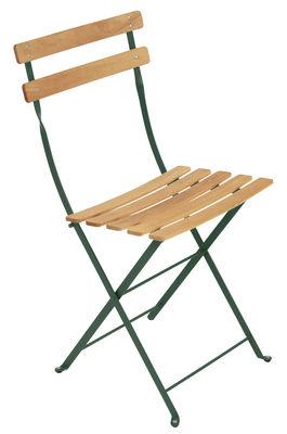 Chaise pliante Bistro / Métal & bois - Fermob bois,cèdre en bois
