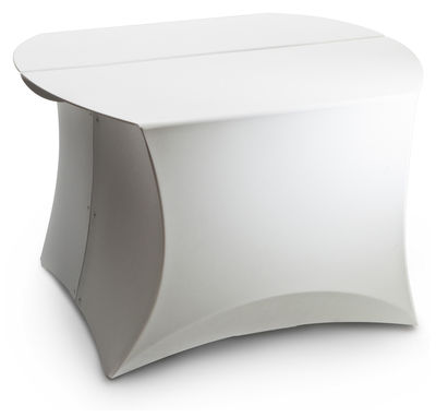 Tavolino Coffee Small - / 60 x 60 cm di Flux - Bianco - Materiale plastico