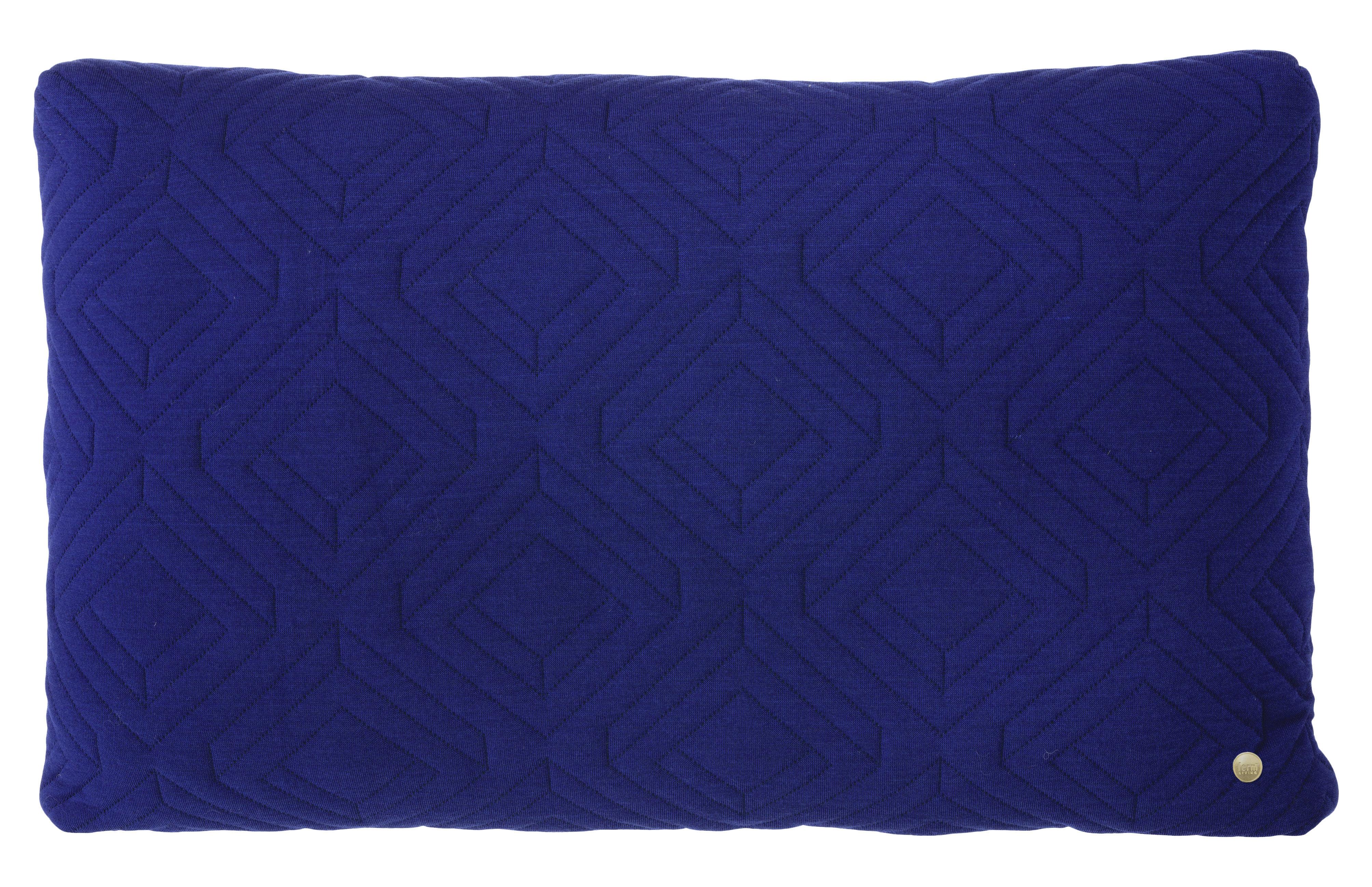 coussin quilt 60 x 40 cm bleu nuit ferm living. Black Bedroom Furniture Sets. Home Design Ideas