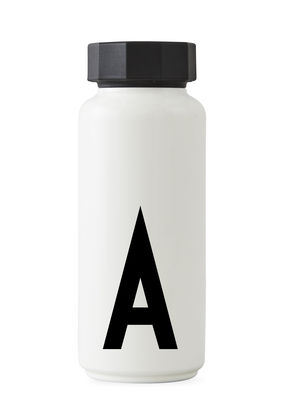 Image of Arne Jacobsen Thermosflasche / 500 ml - Buchstabe A - Design Letters - Weiß