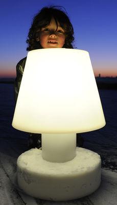 lampe sans fil rechargeable h 56 cm blanc h 56 cm bloom. Black Bedroom Furniture Sets. Home Design Ideas