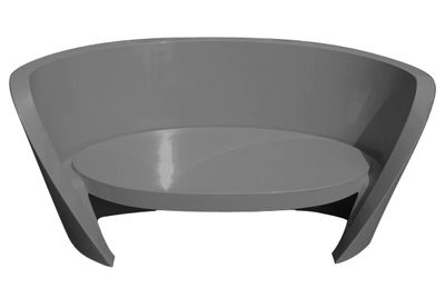 canap rap l 170 cm version laqu e gris laqu slide. Black Bedroom Furniture Sets. Home Design Ideas