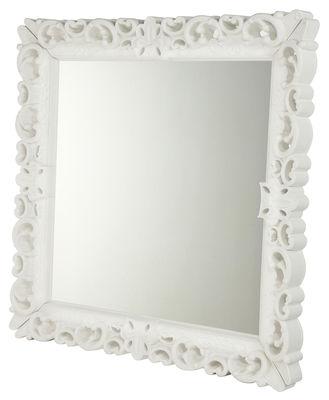 Jardin - Déco et accessoires - Miroir mural Mirror of Love / 153 x 153 cm - Design of Love by Slide - Blanc - Polyéthylène rotomoulé