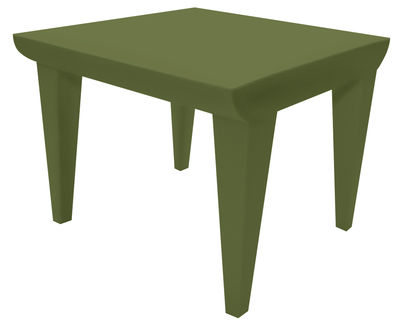 Tavolino Bubble Club / 51 x 51 cm - Kartell - Verde - Materiale plastico