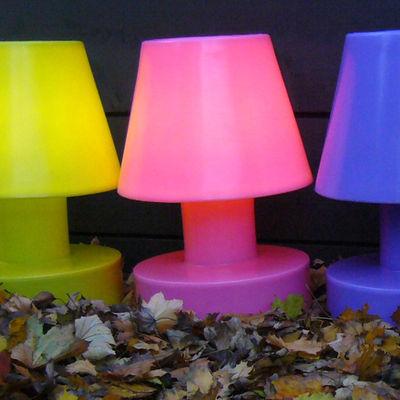 Image of Lampada senza fili - Portatile senza filo ricaricabile - h 56 cm di Bloom! - Rosa - Materiale plastico