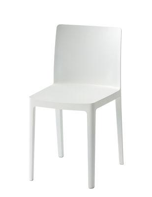 Chaise empilable Elementaire Hay blanc crème en matière plastique