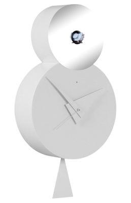 Horloge murale Otto à coucou / H 38,5 cm Blanc avec miroir ...