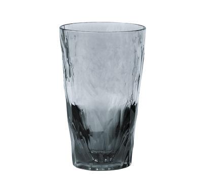 Verre long drink Club No. 6 / H 14 cm - Koziol gris transparent en matière plastique