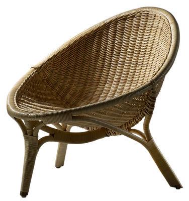 Poltrona Rana - / Riedizione 1951 di Sika Design - Naturale - Fibre