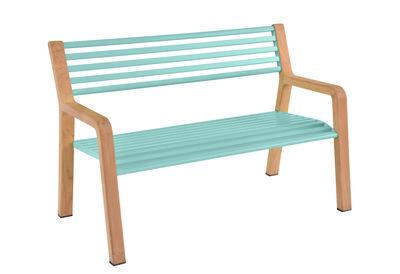 Scopri Panca con schienale Somerset -/ Legno & Metallo - L 122 cm ...