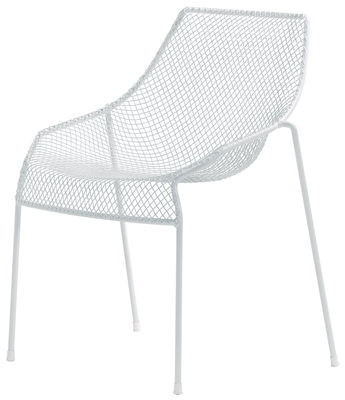Furniture - Chairs and high armchairs - Heaven Stacking chair - Metal by Emu - Matt white - Steel