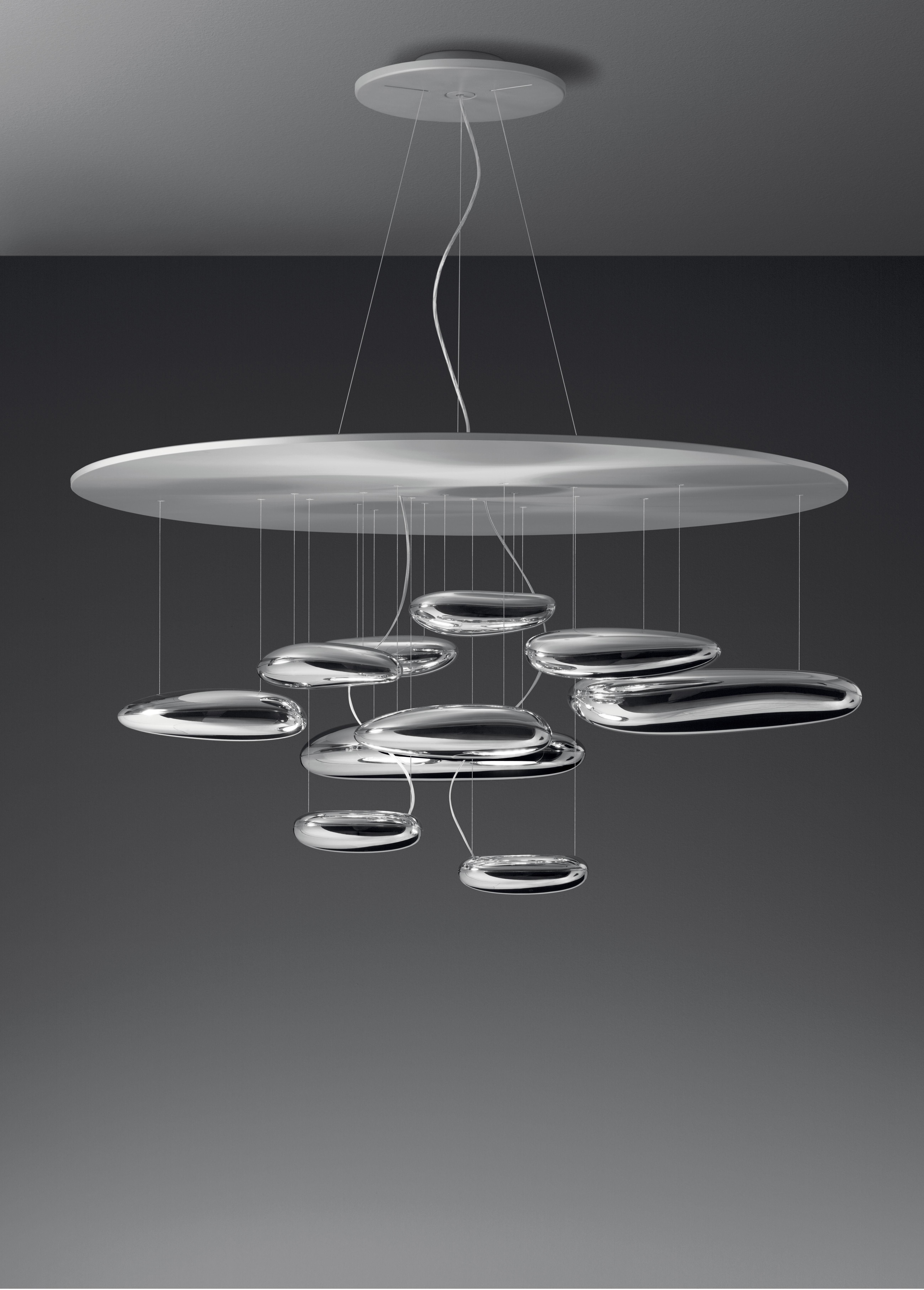 mercury pendant halogen metal grey mirror by artemide. Black Bedroom Furniture Sets. Home Design Ideas