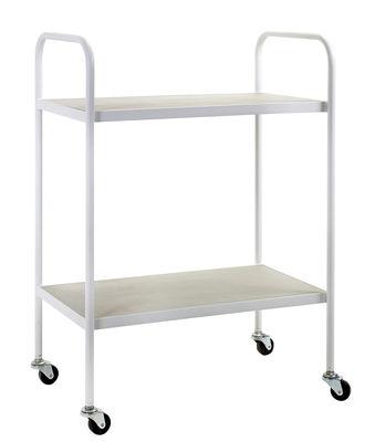 Carrello/tavolo d'appoggio Concrete - / Cemento & Metallo di Serax - Bianco,Grigio - Metallo
