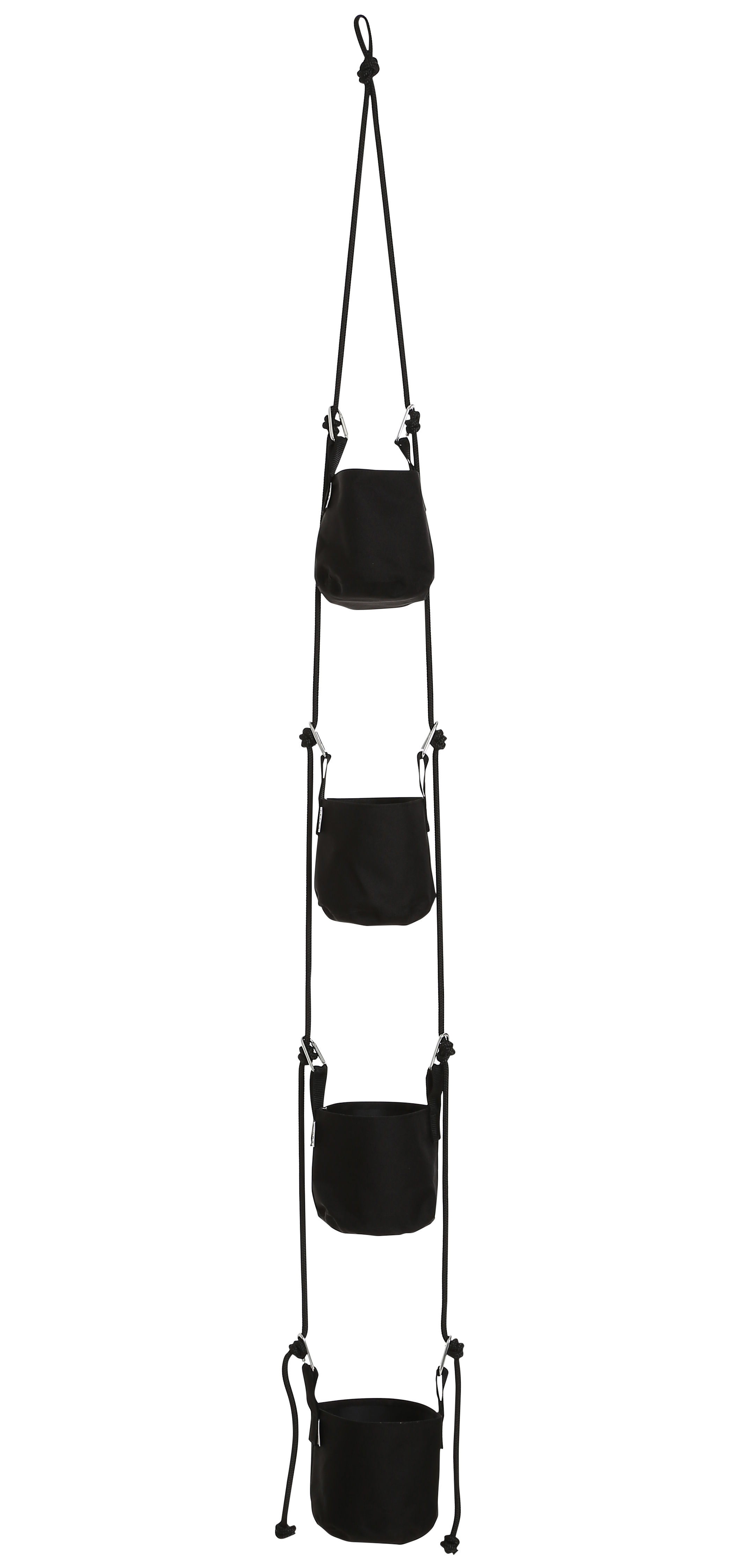vertical blumentopf zum aufh ngen 4 blument pfe und seile h 200 cm schwarz by trimm. Black Bedroom Furniture Sets. Home Design Ideas
