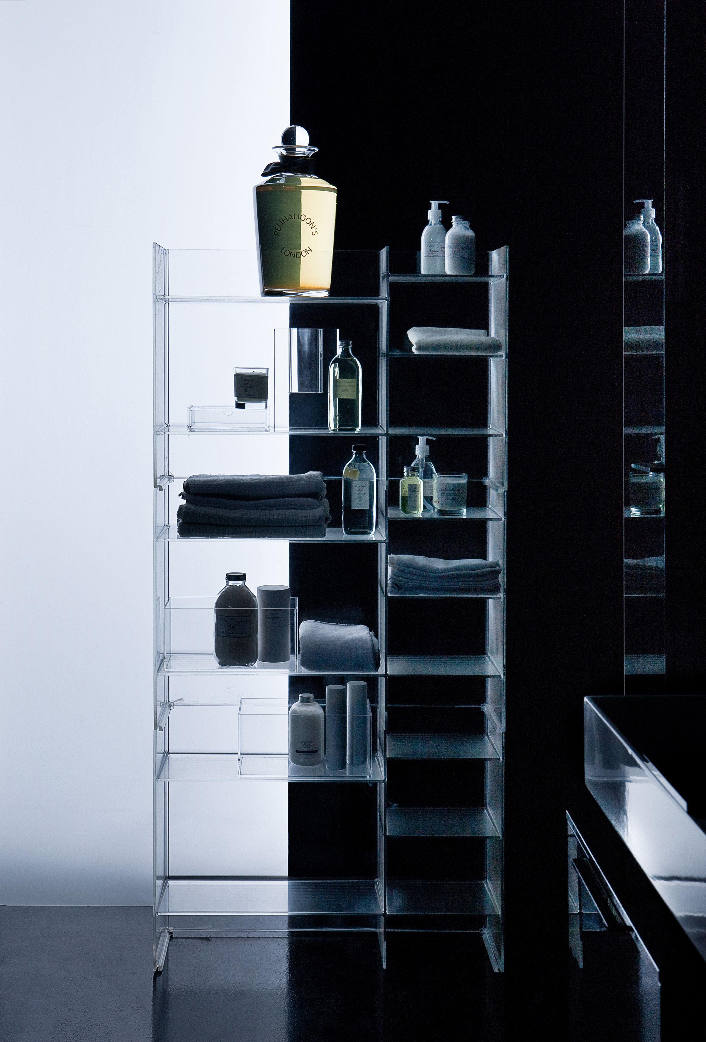 Scopri mobile contenitore sound rack l 75 x h 53 cm cristallo di kartell made in design italia - Kartell accessori bagno ...