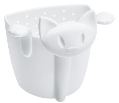 Passoire à thé Miaou - Koziol blanc en matière plastique